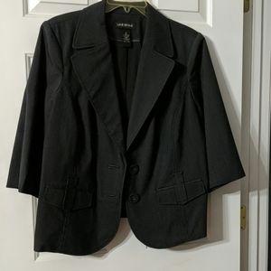 Black pin-striped blazer